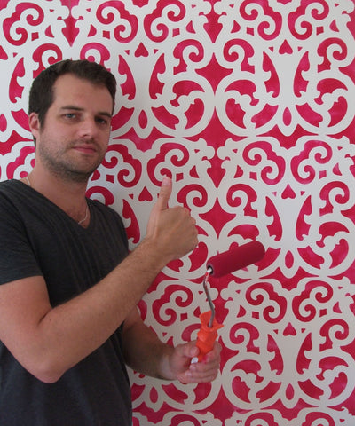 MOROCCAN PATTERN WALL STENCILLING