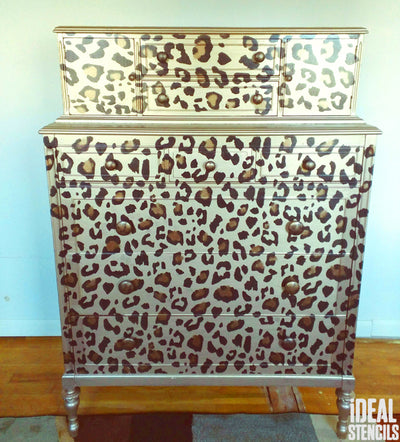 WOW LEOPARD PRINT FURNITURE STENCILLING