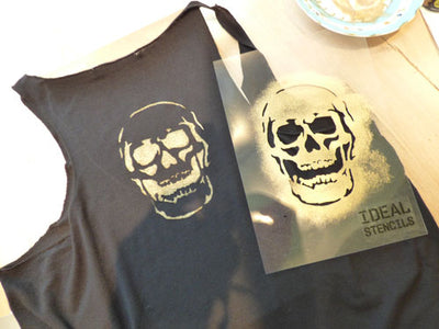 T SHIRT AND SKULL STENCILLING TUTORIAL