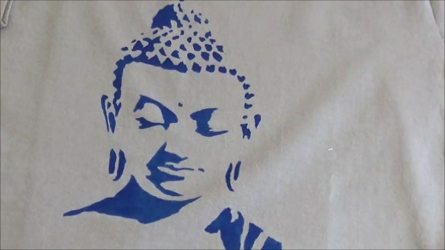 buddha stencil t shirt tutorial great result