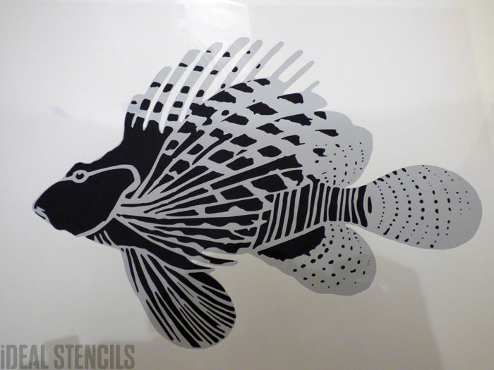Custom fish stencil ideal stencils