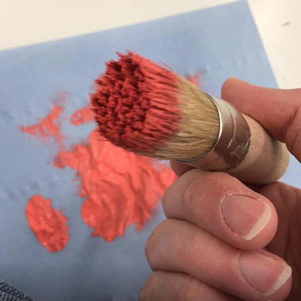 load your stencil brush