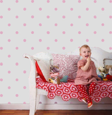 Polka dot nursery wall stencil