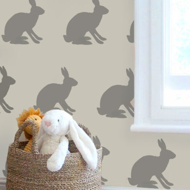 bunny rabbit wall nursery stencil