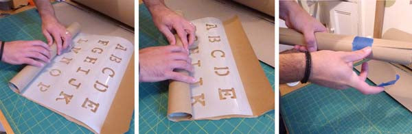 How to flatten a curled stencil Ideal Stencils