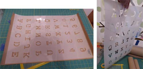 How to flatten a curled stencil