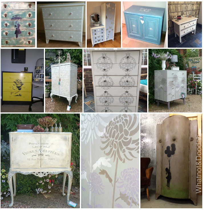 Stenciled furniture projects gallery - Ideal Stencils