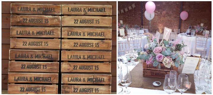 custom wedding crate stencils