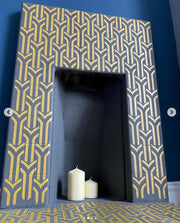 Art Deco arches pattern stencil