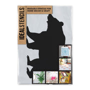 Bear Silhouette Stencil - IDEAL Stencils wholesale