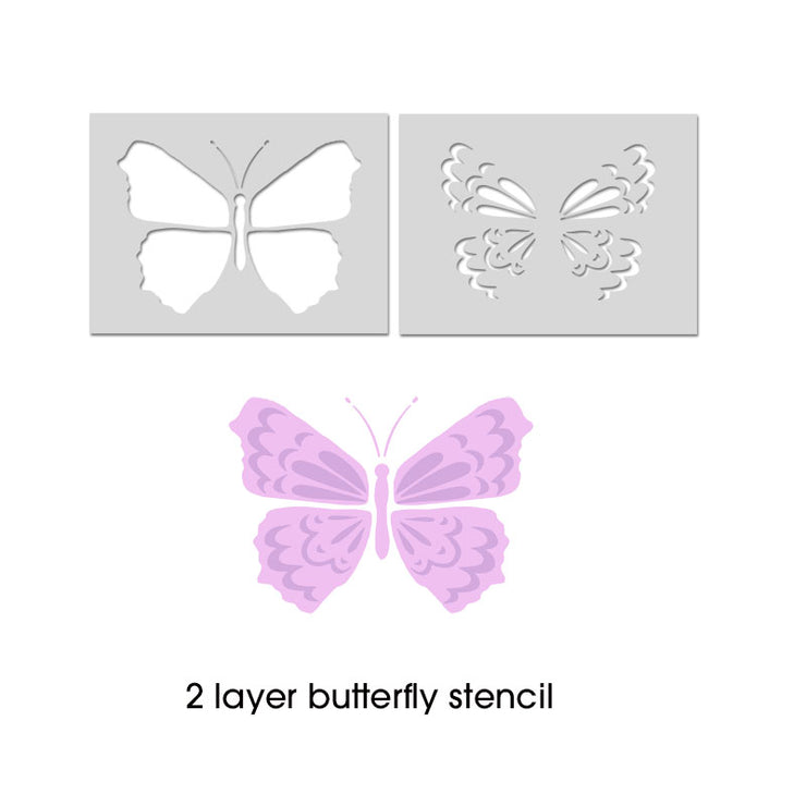 Butterfly Stencil 2 layers