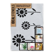 Daisy Flower Kids Nursery Border Stencil