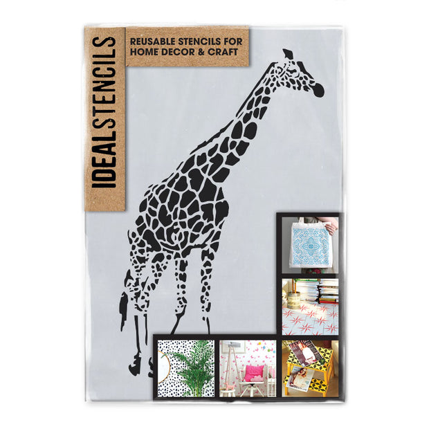 Giraffe wall art stencil,Strong,Reusable,Recyclable