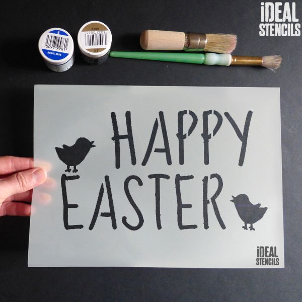 Happy Easter' Stencil