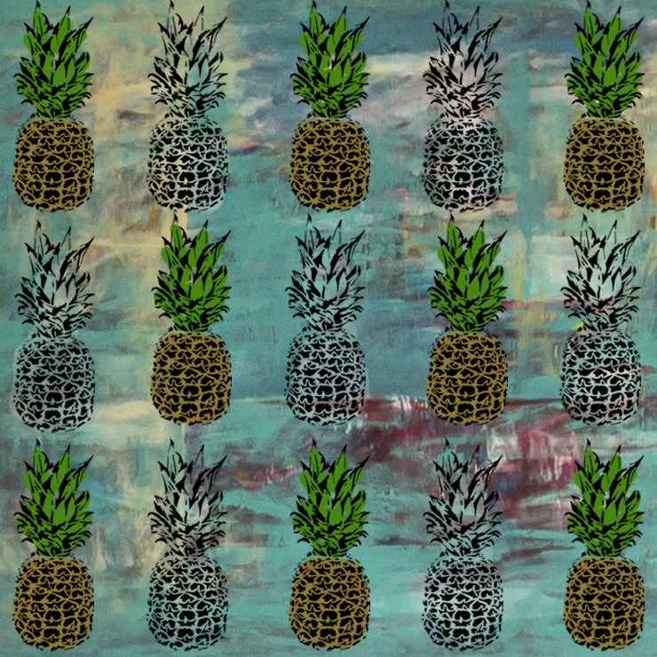 Pineapple Tropical Stencil