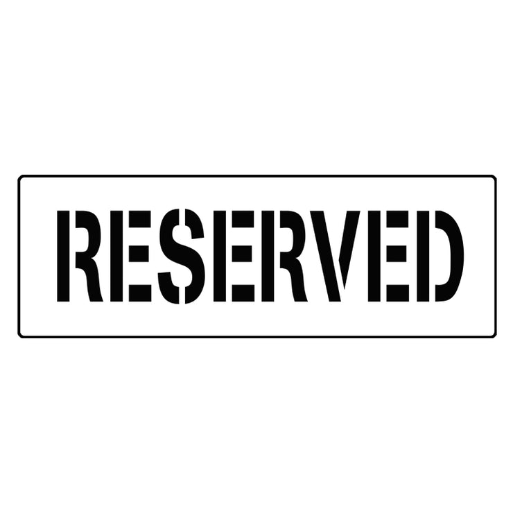 reserved parking stencil