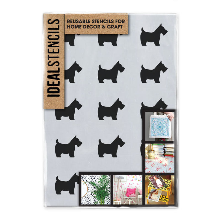 Scottie Dog Pattern Stencil - Ideal Stencils