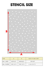 Hand-drawn Polka Dots Spots Wall Stencil