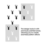 Stag Head Pattern Stencil