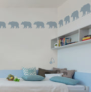 Bear stencil painted on wall -  Ideal Stencils
