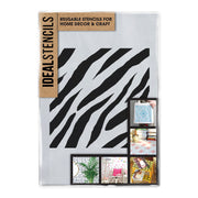 Zebra Stripes Pattern Stencil