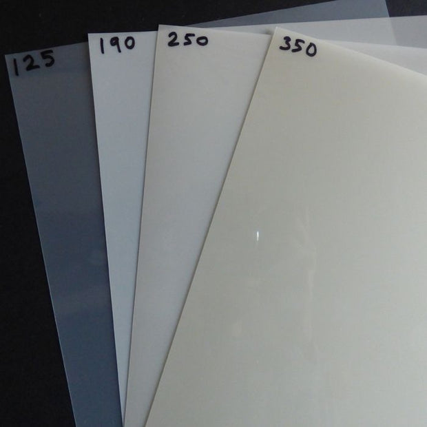 A4 (210 x 297mm) Mylar sheets - all microns
