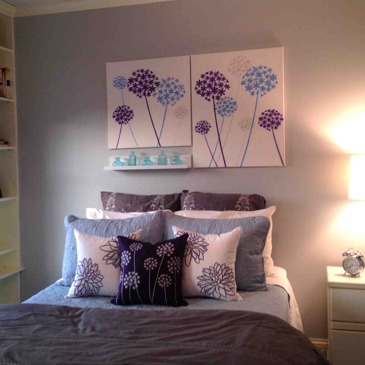 Allium Flower Wall Stencil