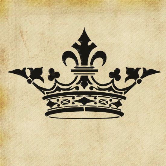 Antique crown stencil