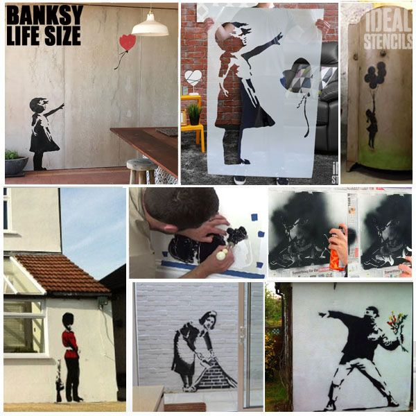 Banksy Flower Thrower Stencil - Life Size