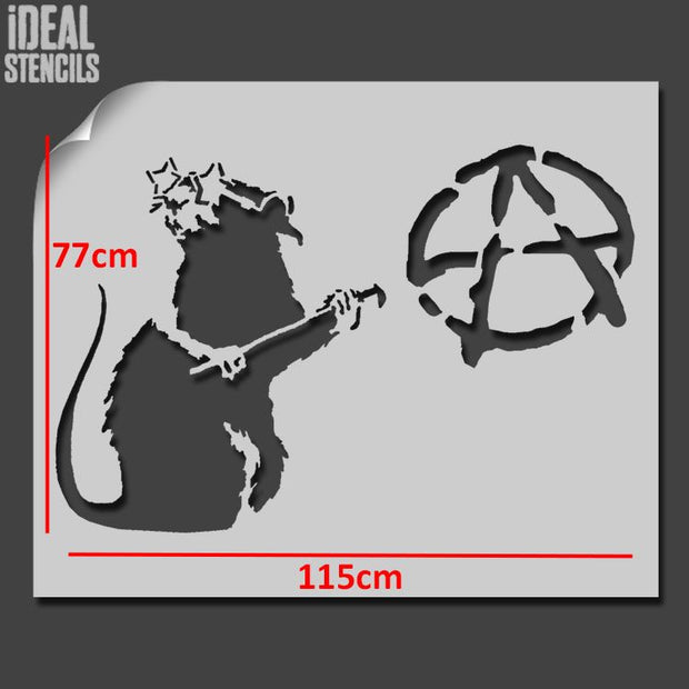 Banksy Anarchist Rat XL
