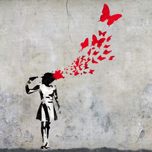 Banksy girl butterfly/'s wall art stencil,Strong,Reusable,Recyclable