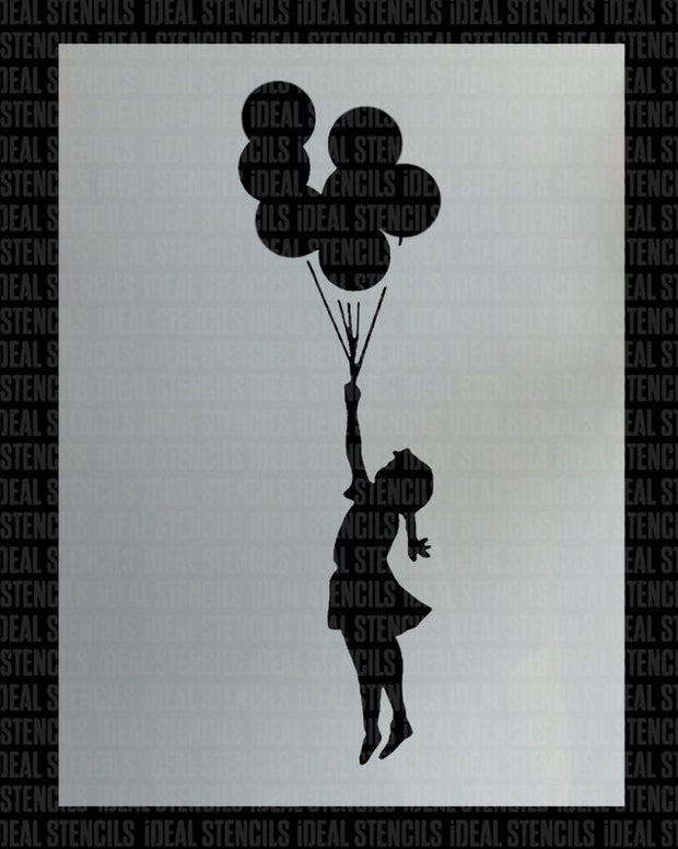 Banksy Flying Balloon Girl Stencil
