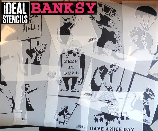Banksy Happy Chopper Wall Stencil