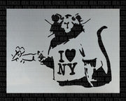 Banksy I love New York Rat
