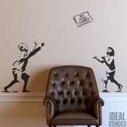 Banksy 'No Ball Games' Stencil