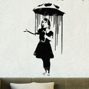 Banksy Nola Girl with Umbrella Stencil