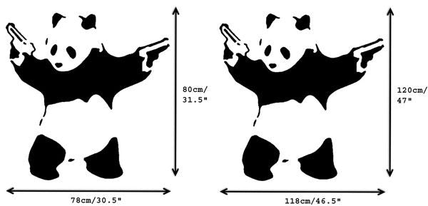 Banksy Pandamonium Stencil - XL Sizes
