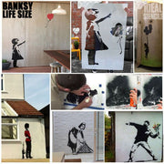 Banksy Pissing Guard Stencil Life size