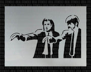 Banksy Pulp Fiction Stencil