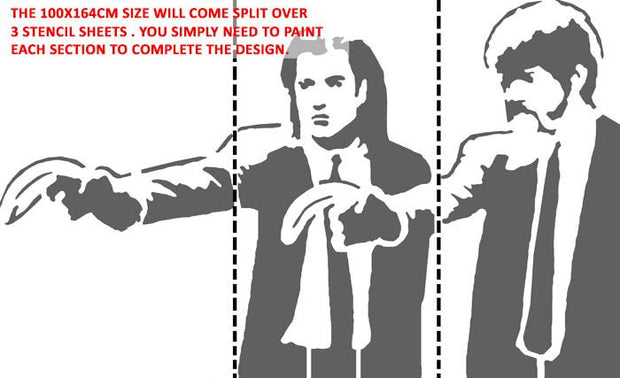 Banksy Pulp Fiction Stencil - Life Size