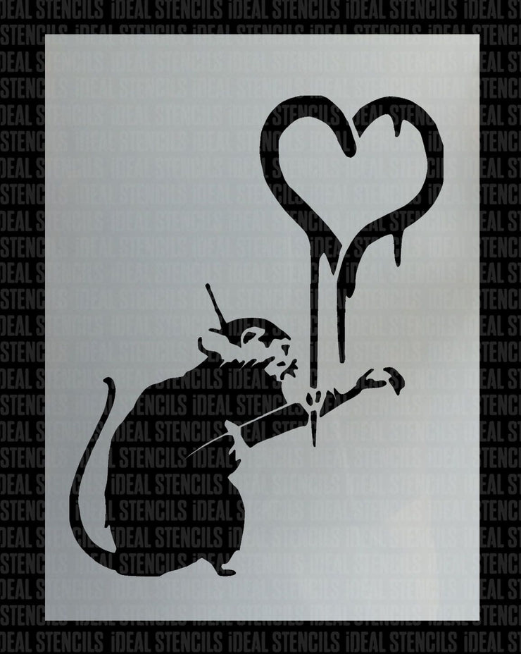 Banksy Rat Painting Heart