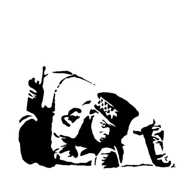 Banksy Snorting Copper stencil - Life Size