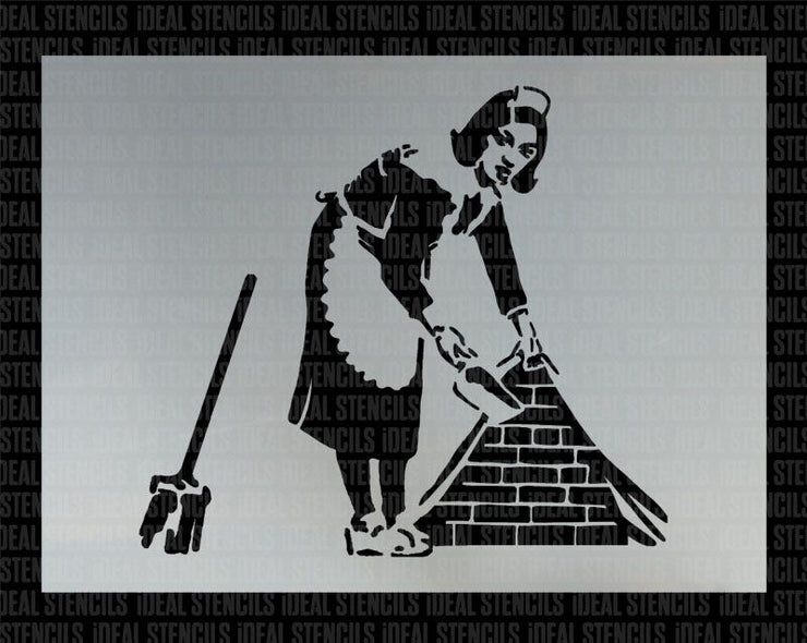 Banksy Sweeping Maid