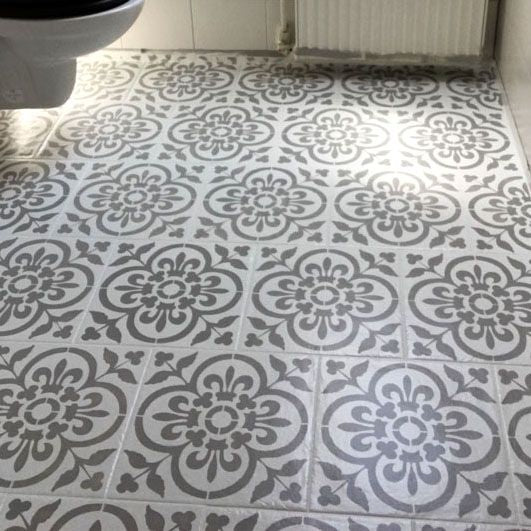 Basque Tile & Floor Stencil