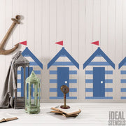 Beach Hut Chalet 2 Layer Stencil