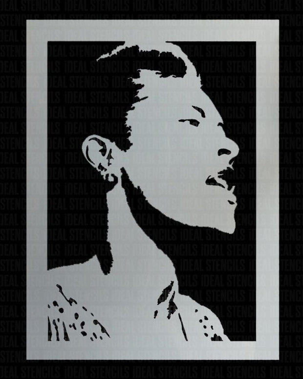 Billie Holiday Stencil