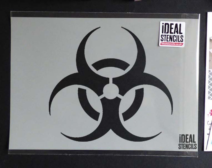 Biohazard Warning Sign Stencil