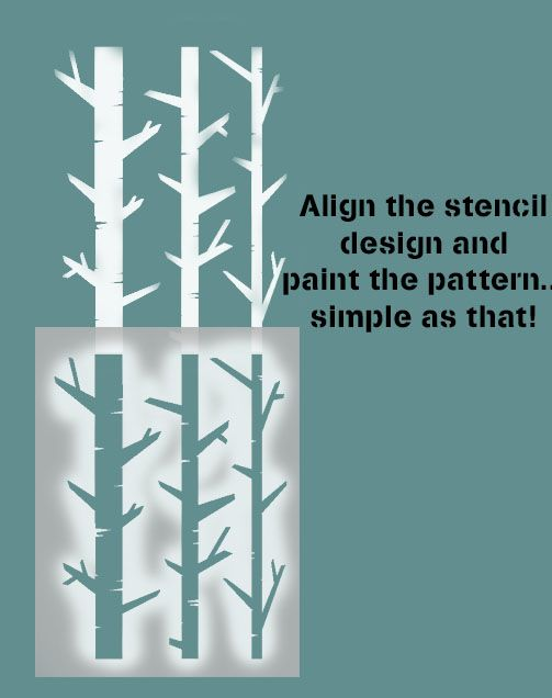 Birch Tree Pattern Stencil