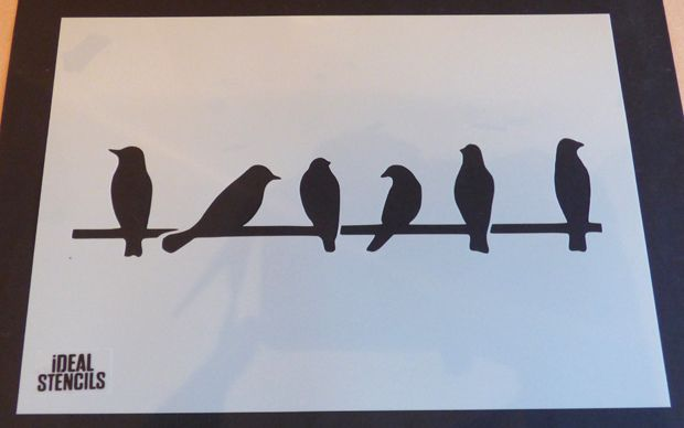 Birds on Wire Stencil