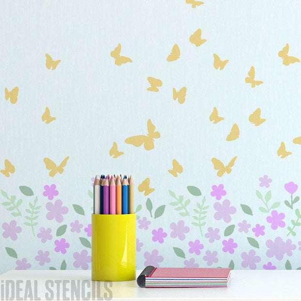Blossom & Butterfly Stencil
